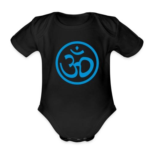 Body MC ohm black/blue - Body bébé bio manches courtes
