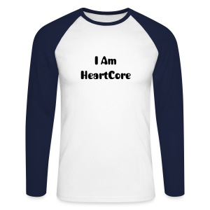 I Am HeartCore Baseball Tee - Men's Long Sleeve Baseball T-Shirt