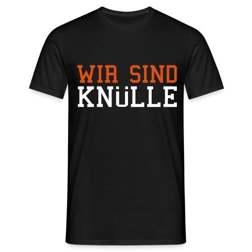 Motto-Shirt Schwarz - Männer T-Shirt