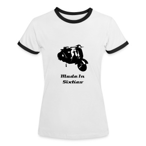 Made In Sixties Vespa Girl - T-shirt contrasté Femme