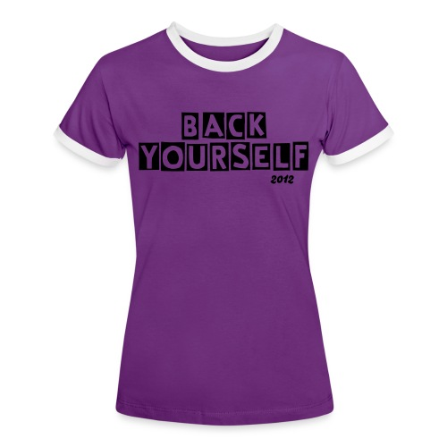 BY2012 Ladies Contrast tee - Women's Ringer T-Shirt