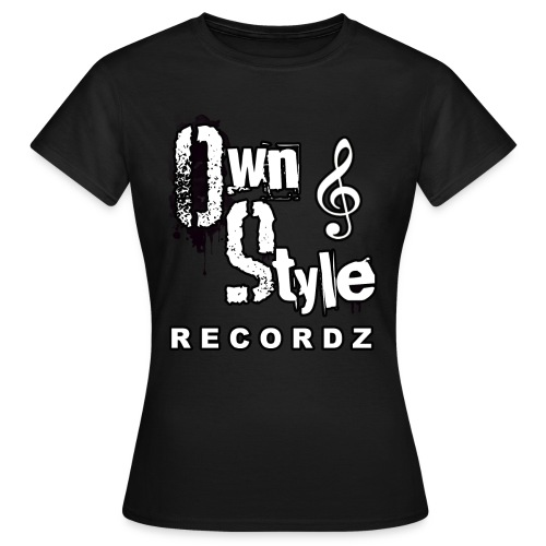 Own Style Recordz-Logo Shirt Woman [Black] - Frauen T-Shirt