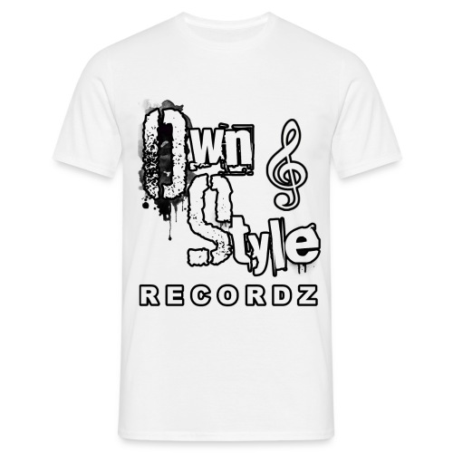 Own Style Recordz-Logo Shirt [White] - Männer T-Shirt