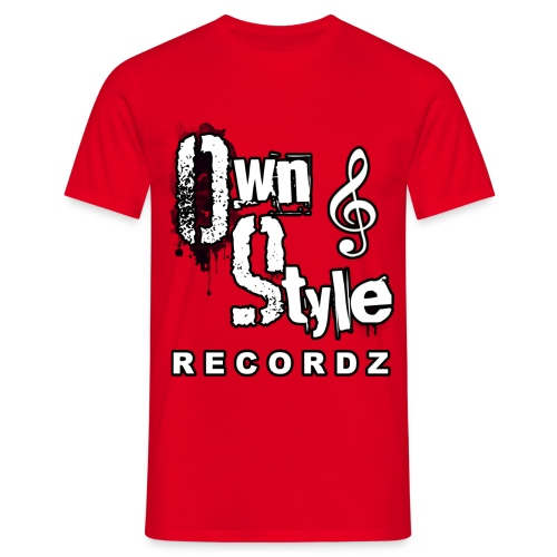 Own Style Recordz-Logo Shirt [Red] - Männer T-Shirt
