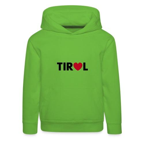 TIROL - schwarz/rot, verschiedene Farben - Kinder Premium Hoodie
