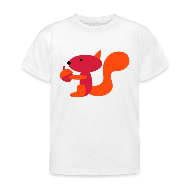 Kinder T-shirt wit met eekhoorn