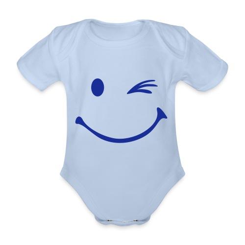 Body Bébé Smiley Rouge  - Body bébé bio manches courtes