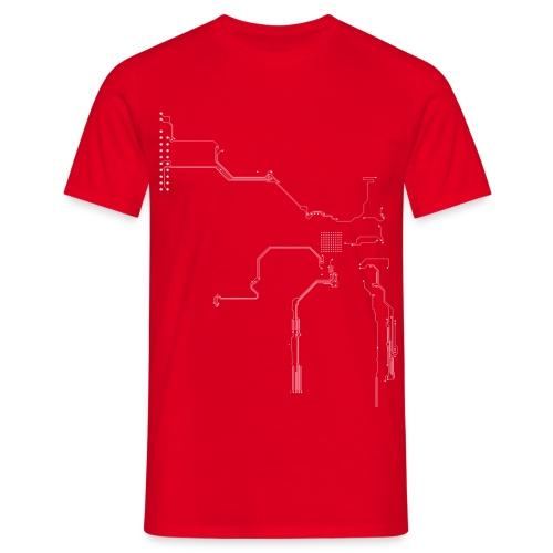 Leiterbahnen / Platinen  - Männer T-Shirt