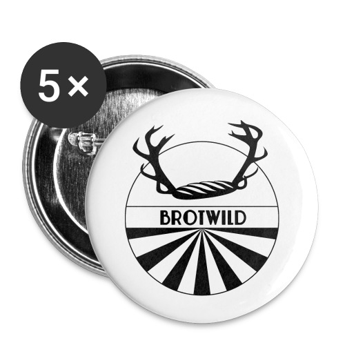Brotwild - Buttons klein 25 mm (5er Pack)
