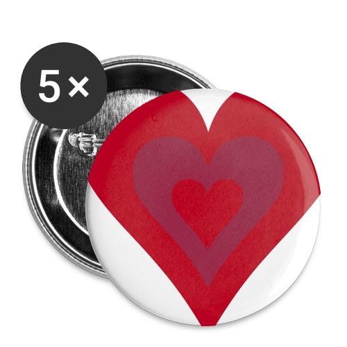 Retro love - Buttons medium 1.26/32 mm (5-pack)