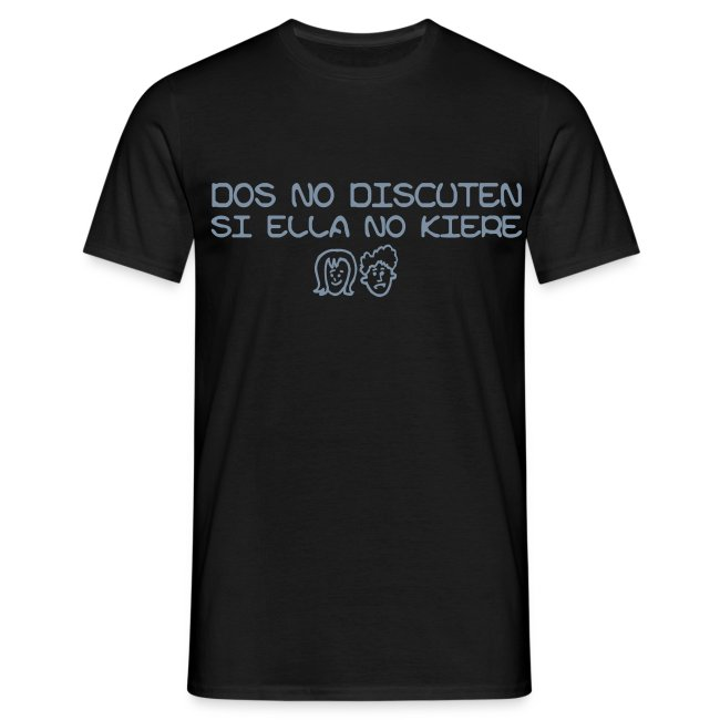 camiseta dos no discuten si ella no kiere