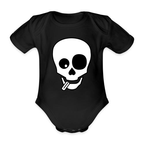 Mongo Skull Strampler - Baby Bio-Kurzarm-Body
