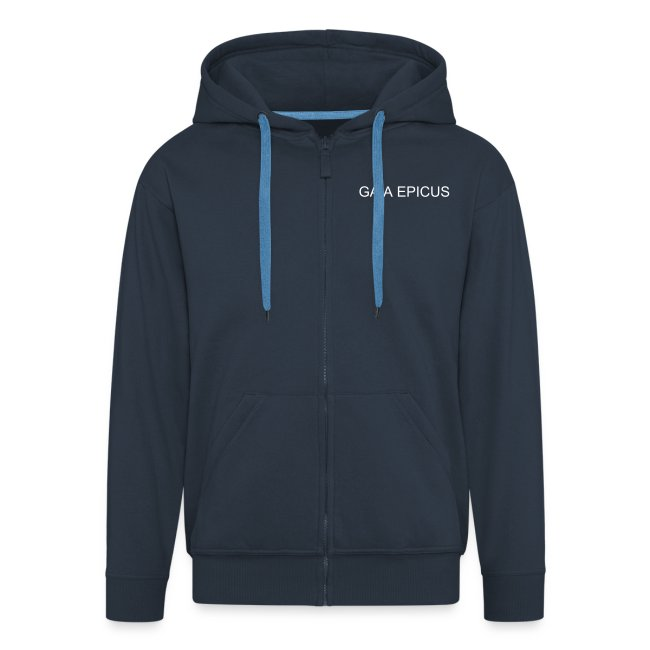 Gaia Epicus Jacket Blue- Satrap on the back, name on the front