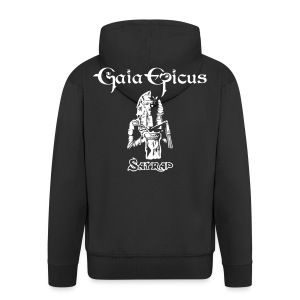 Gaia Epicus Jacket Black - Satrap on the back, name on the front - Men's Premium Hooded Jacket