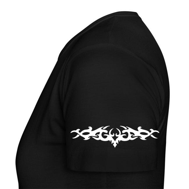 Woman T-Shirt Black - Gaia Epicus - Front and arm prints
