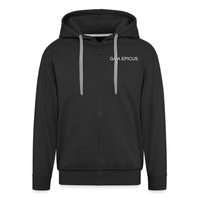Gaia Epicus Jacket Black - Logo on the back, name on the front, tribal on arms