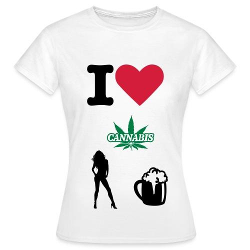 T-shirt Femme - tee-shirt,sex,homme,canabis,cadeau,blanc,bière