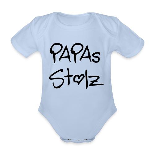 Papas Stolz-Strampler - Baby Bio-Kurzarm-Body
