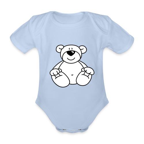 Teddy-Strampler - Baby Bio-Kurzarm-Body