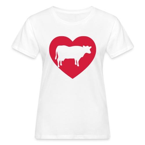 Ik hou van koeien T-shirt - Vrouwen Bio-T-shirt