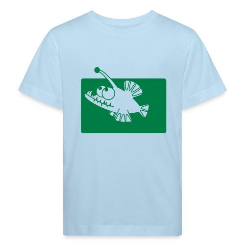angeln wie ein Fisch - Kinder Bio-T-Shirt