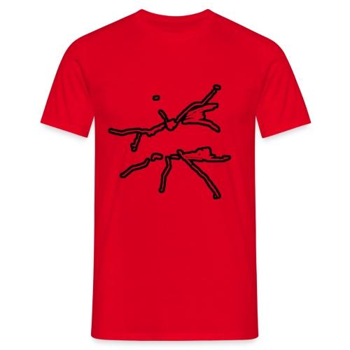 FliegenFischen /Rot - Männer T-Shirt