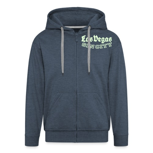 LAS VEGAS SIN CITY - Men's Premium Hooded Jacket