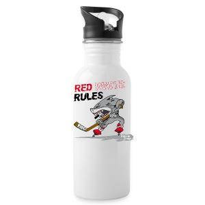 Red White Rules Hai (Kölsche Jungs) - Trinkflasche