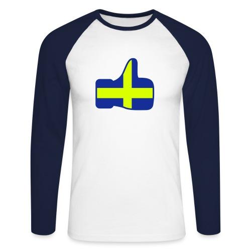 I LIKE SWEDENtEE - Men's Long Sleeve Baseball T-Shirt