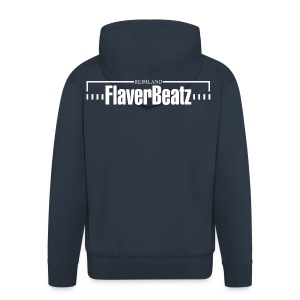 FlaverBeatz - Zip Hoodie (abb. Rücken)  - Männer Premium Kapuzenjacke