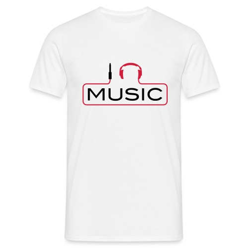 men shirt listening music - Mannen T-shirt