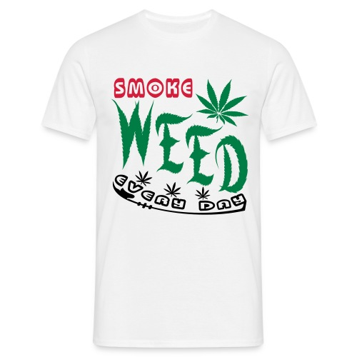 smoke weed men shirt - Mannen T-shirt