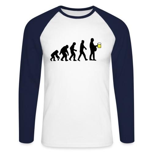 T-Shirt BEER EVOLUTION - Maglia da baseball a manica lunga da uomo