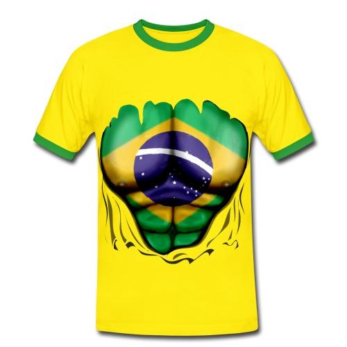I love Brasil (J'aime le brésil) - T-shirt contrasté Homme