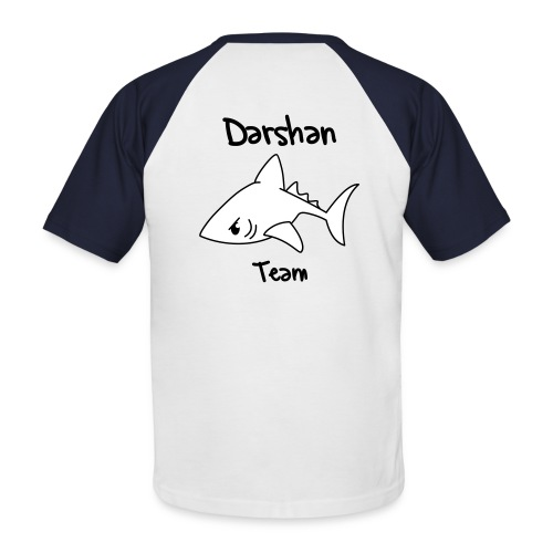Shark baseball darshan text - T-shirt baseball manches courtes Homme