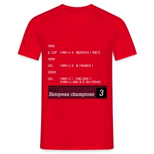 TV Ticker - Man U - Men's T-Shirt