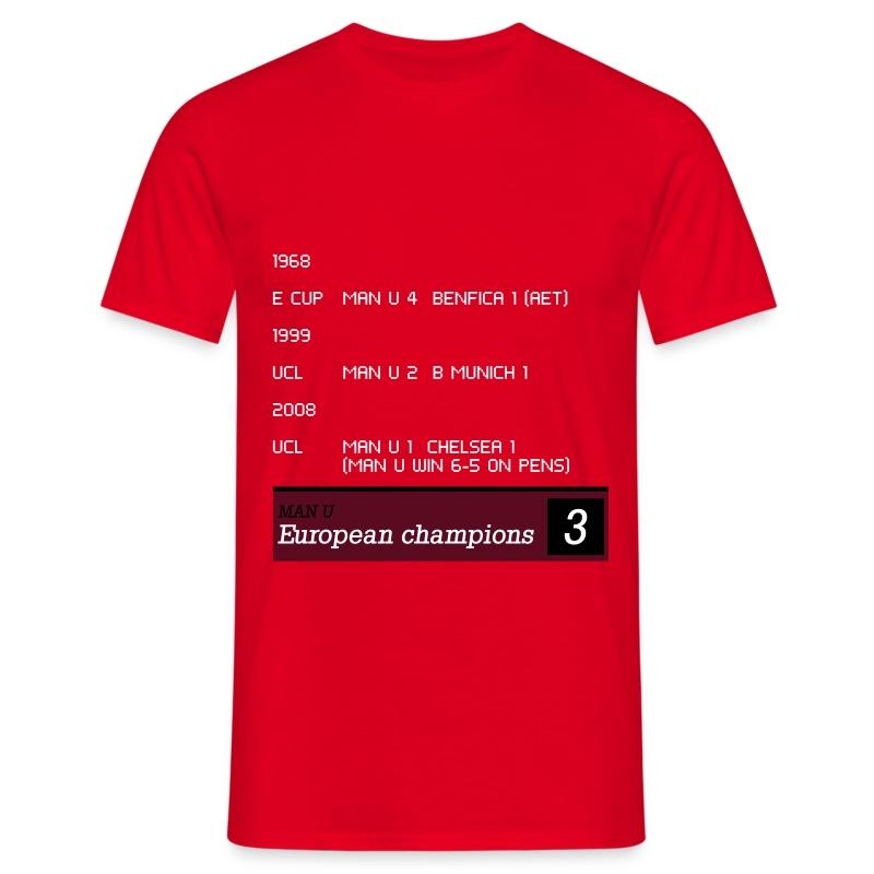 TV Ticker - Man U - Men's T-Shirt