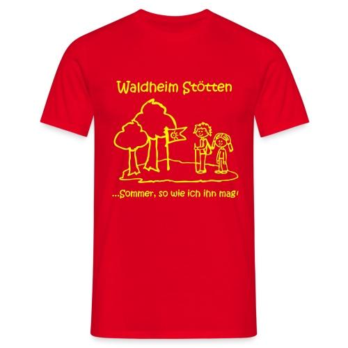 Kinder T-Shirt rot (Große Größen) - Männer T-Shirt