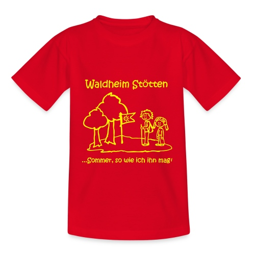 Kinder T-Shirt rot  - Kinder T-Shirt