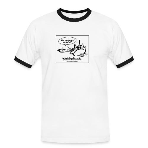 Kobi Köter Morgenstund Deluxe - Männer Kontrast-T-Shirt