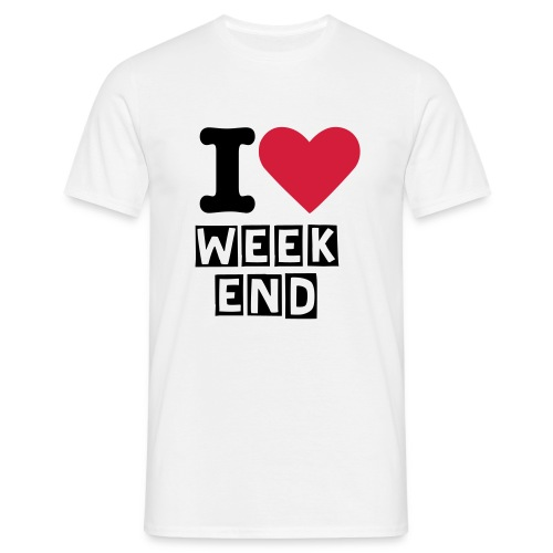 j'aime le week end - T-shirt Homme
