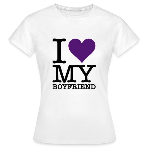 T-shirt Femme - I Love My BoyFriend - T-shirt Femme