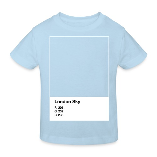 London Sky, light blue, kid - Kinder Bio-T-Shirt