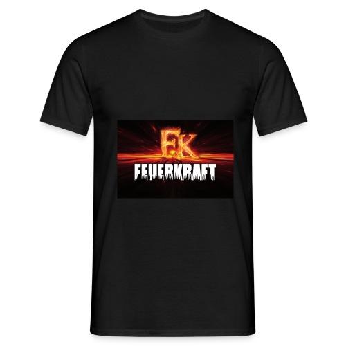 Einfaches Shirt FK-Flammen vorne - Männer T-Shirt