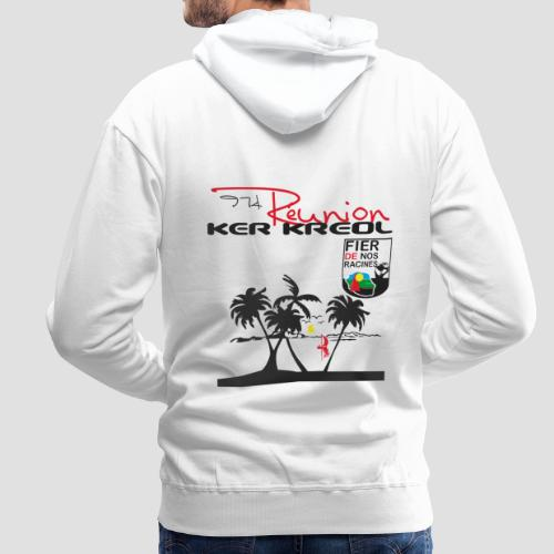 Sweat-shirt à capuche Homme 974 Ker Kreol Réunion 2013 pays - Sweat-shirt à capuche Premium pour hommes