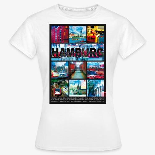 Hamburg Collage 01 Hansestadt Andenken Geschenkide - Frauen T-Shirt