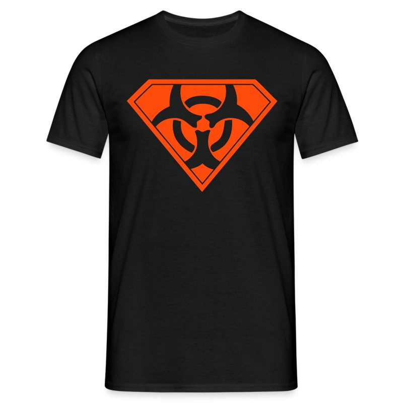 Superman Biohazard - Neonorange - T-shirt herr