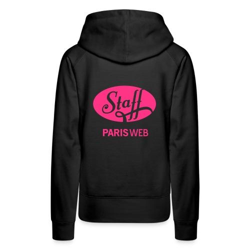 Femme - Hoodie - Rose - Sweat-shirt à capuche Premium pour femmes