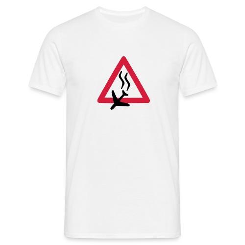 Absturz, weißes Shirt - Männer T-Shirt
