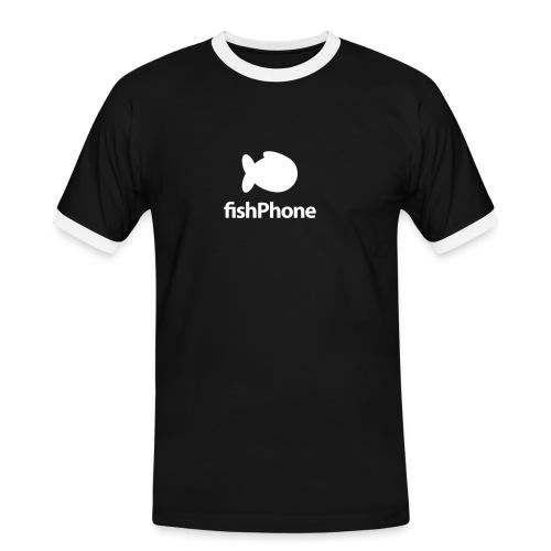 fishPhone Logo SCHWARZ - Männer Kontrast-T-Shirt